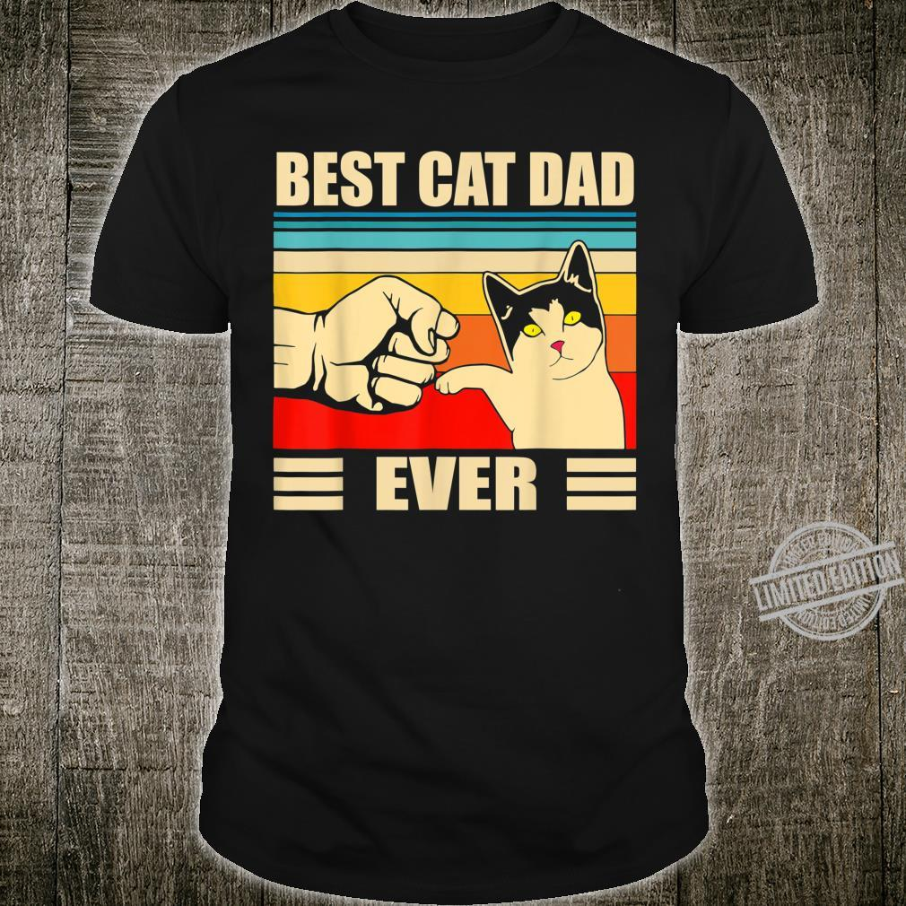 Mens Best Cat Dad Ever Bump For The Man Who Loves His Cat Shirt