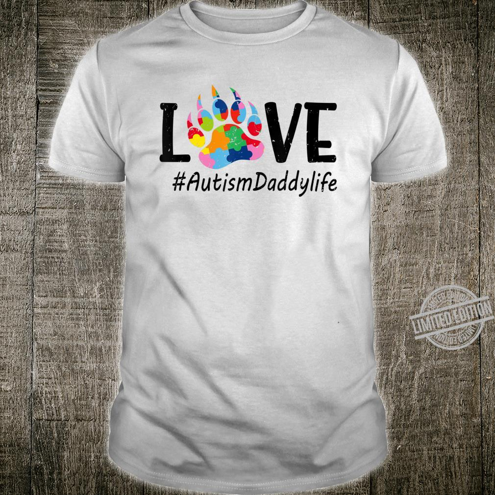 Mens Love Bear Paw Autism Daddy Autism Awareness Costume Shirt