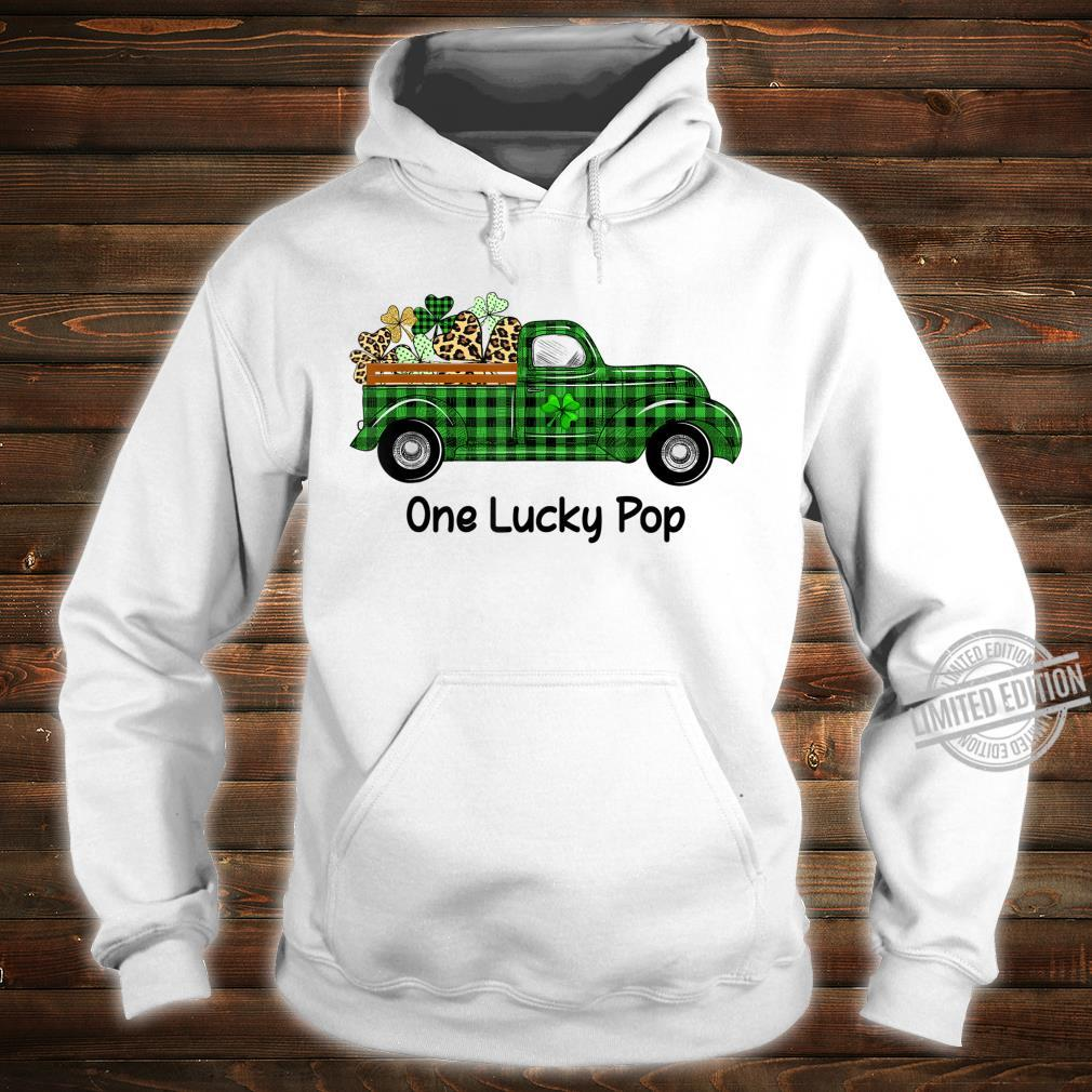 Mens One Lucky Pop Green Plaid Truck Shamrocks St Patrick's Day Shirt hoodie