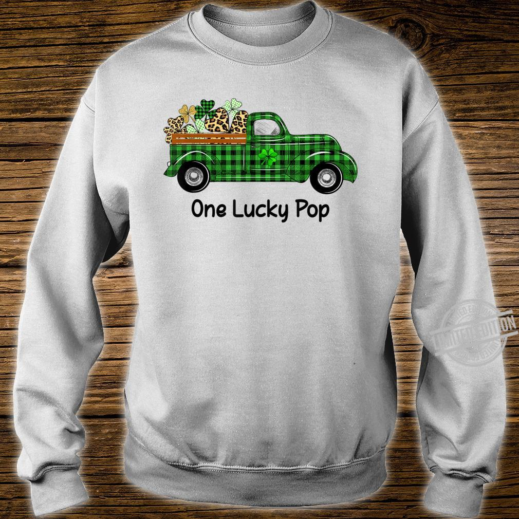 Mens One Lucky Pop Green Plaid Truck Shamrocks St Patrick's Day Shirt sweater