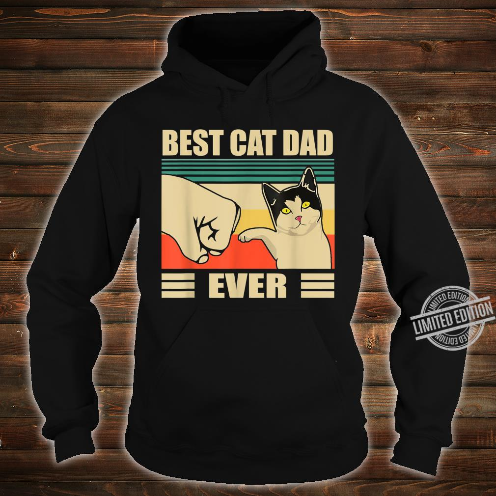 Mens Vintage Bump Fit Best Cat Dad Ever Cat Dad Father Shirt hoodie
