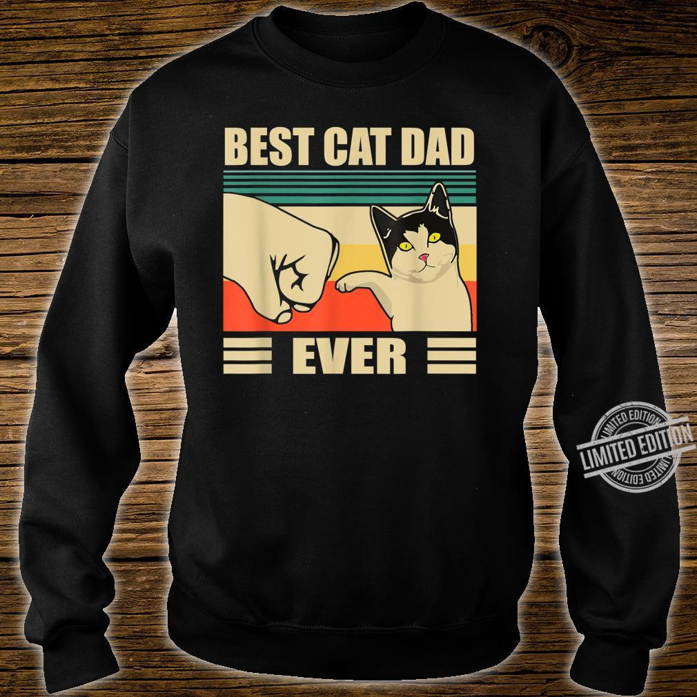 Mens Vintage Bump Fit Best Cat Dad Ever Cat Dad Father Shirt sweater