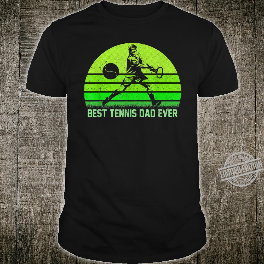 Mens Vintage Retro Best Tennis Dad Ever Father's Day Shirt