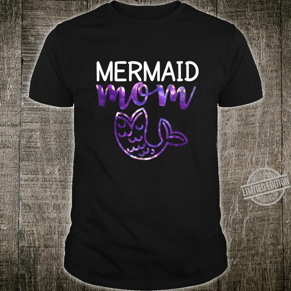 Mermaid Mom Mama Mermaid Tail Girl Shirt Shirt
