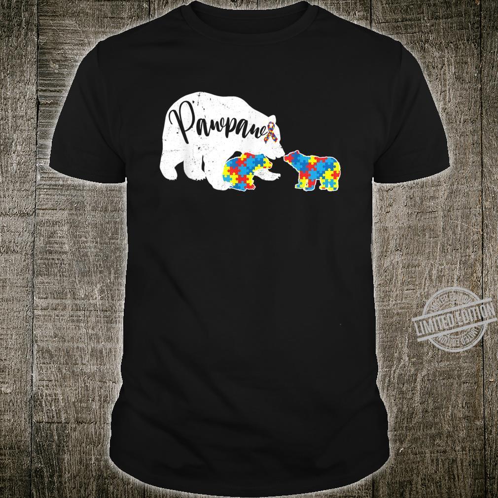 Pawpaw Bear Autism Awareness Month Autism Baby Bear Shirt