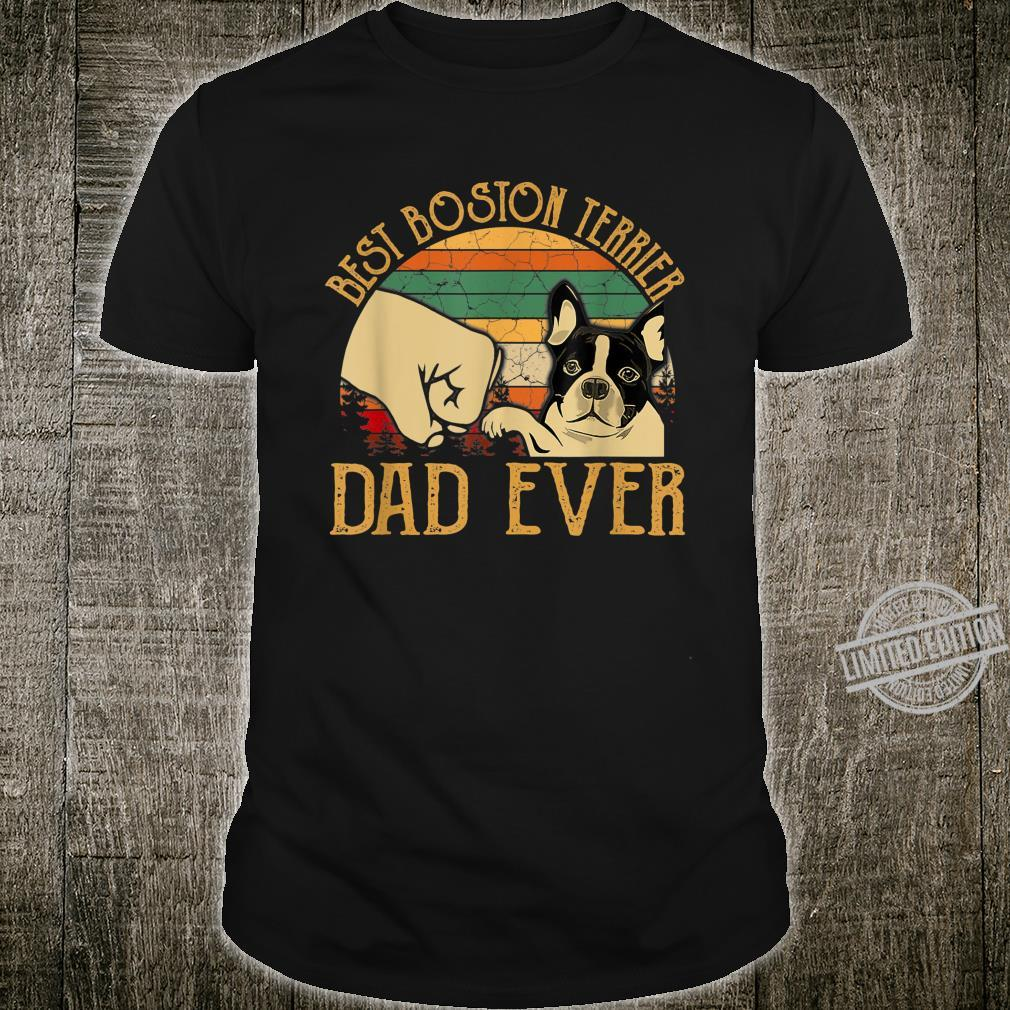 Retro Vintage Best Boston Terrier Dad Ever Shirt