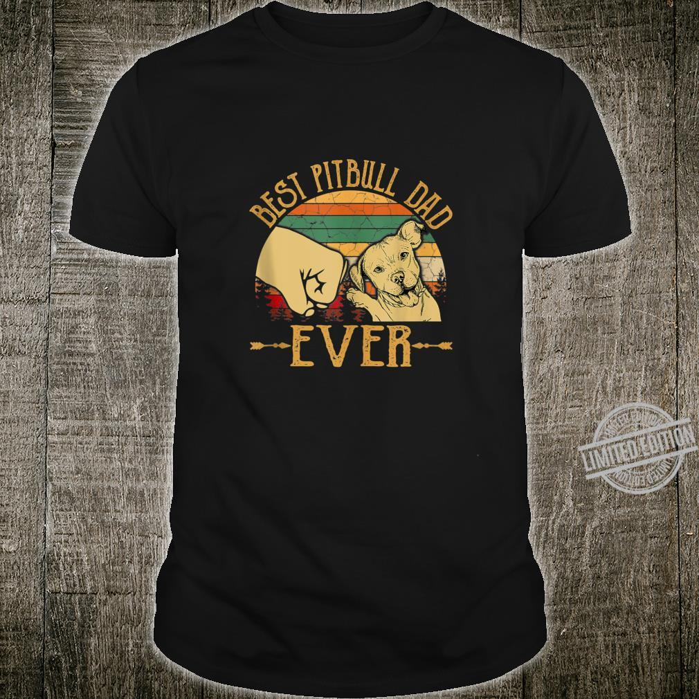 Retro Vintage Best Pitbull Dad Ever Shirt