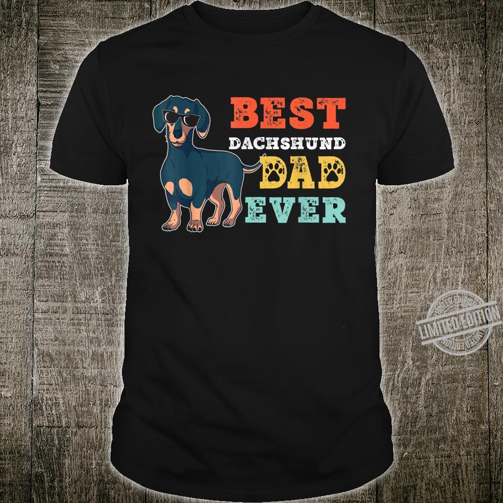 Retro Vintage Dog best Dachshund dad ever Shirt