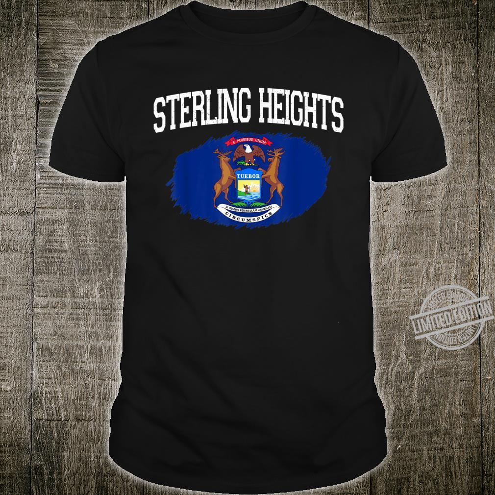STERLING HEIGHTS MI MICHIGAN Flag Vintage Sports Shirt