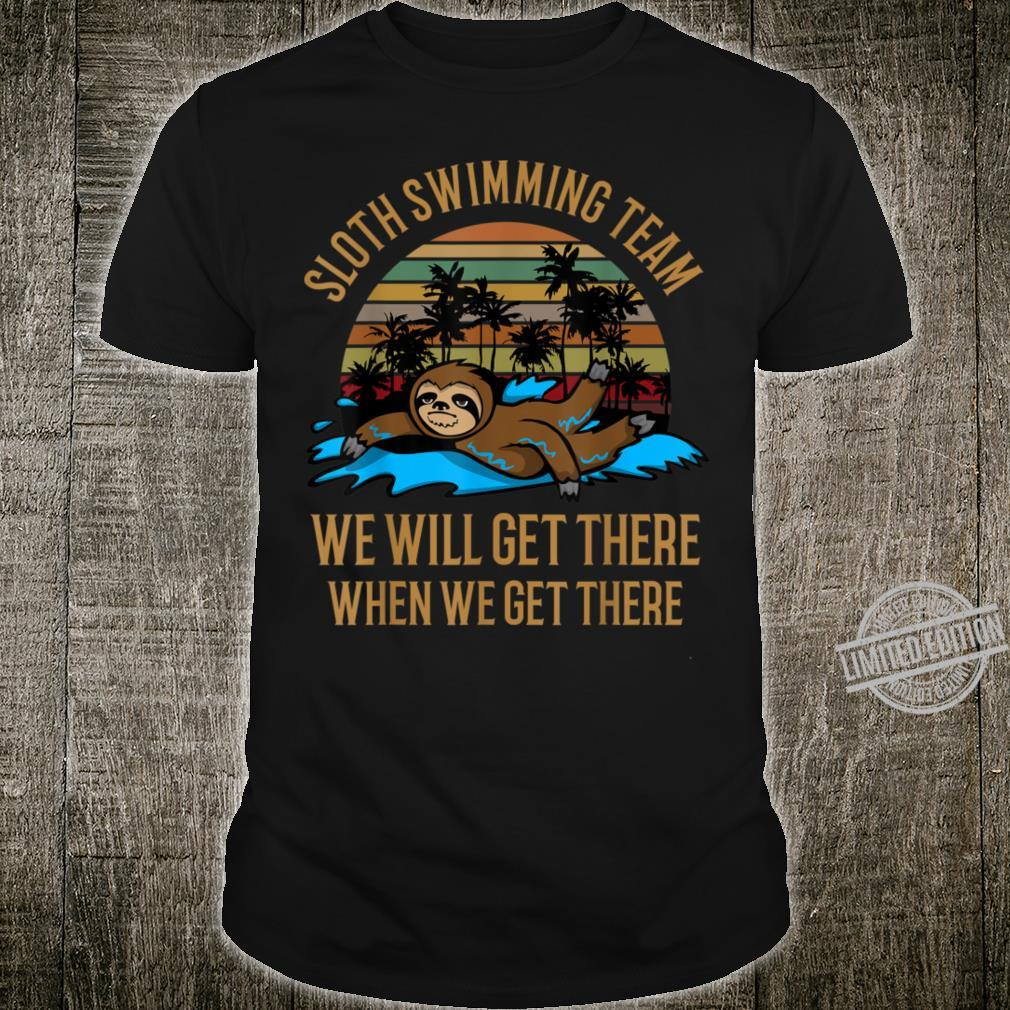 Sloth Swimming Team Shirt