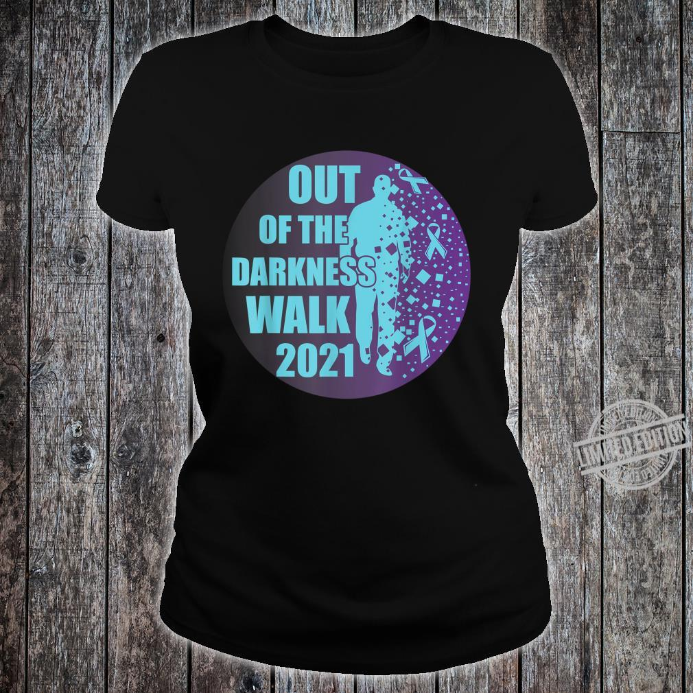 Sucide Awareness, Encouraging, 'Out of the darkness walk' Shirt ladies tee
