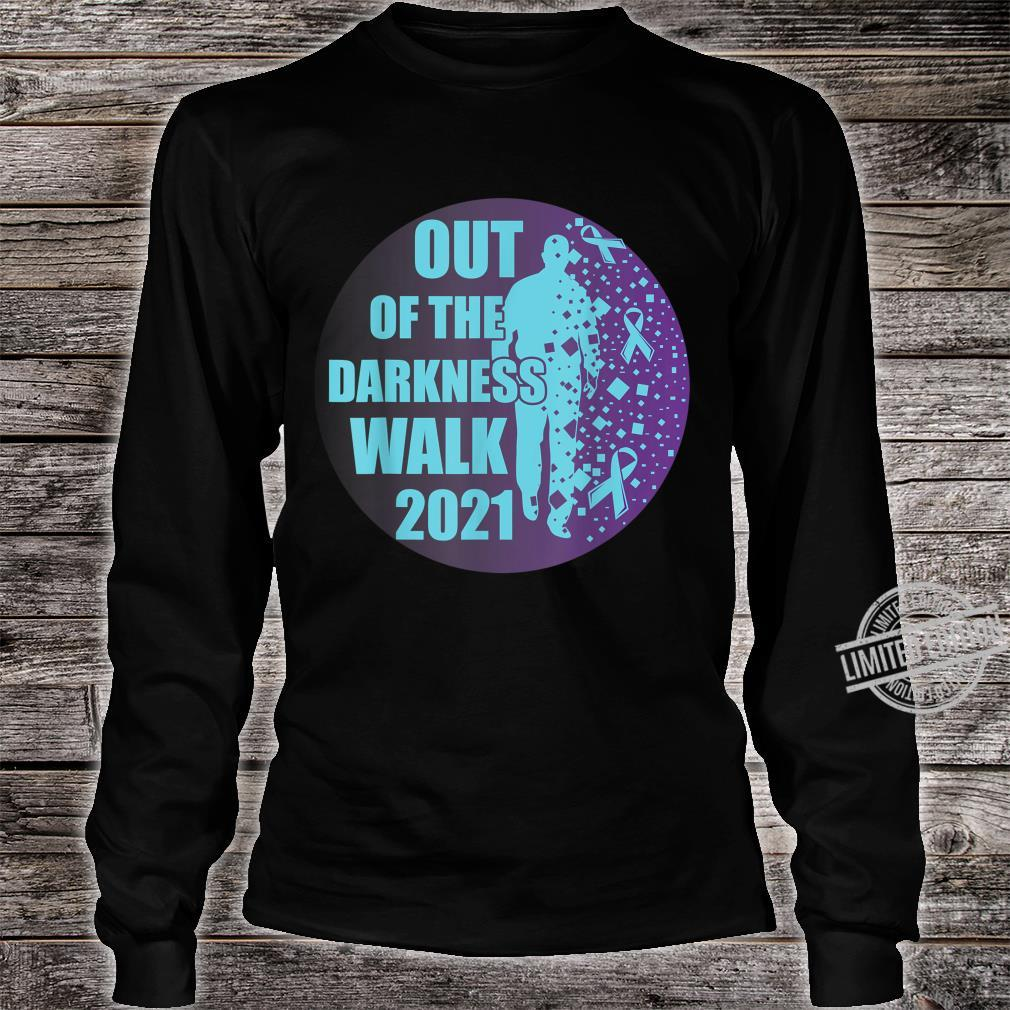 Sucide Awareness, Encouraging, 'Out of the darkness walk' Shirt long sleeved