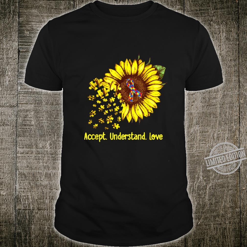 Sunflower Accept Understand Love Autism Awareness Shirt