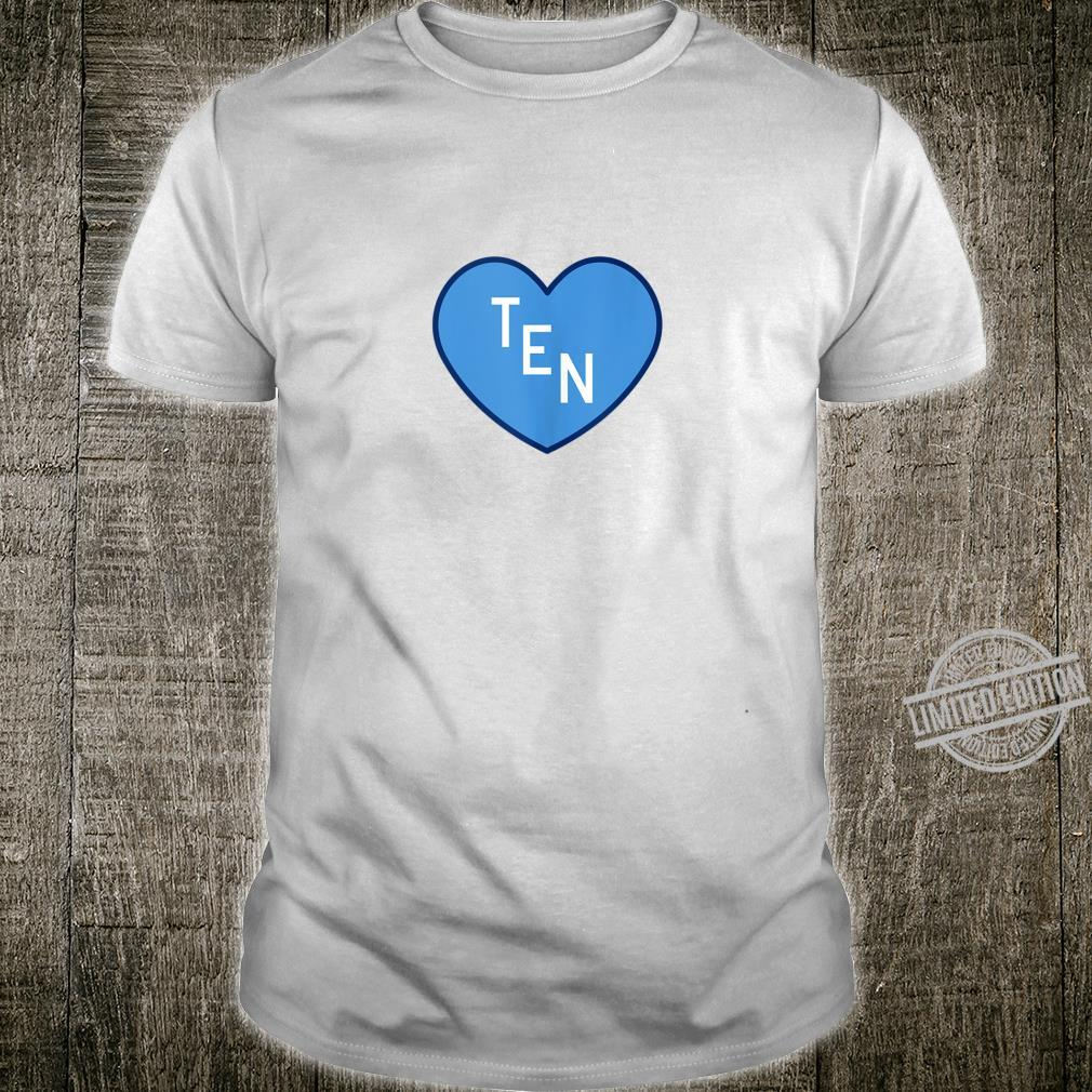 TEN Tennessee Football Girly Football Fan Heart TN Shirt