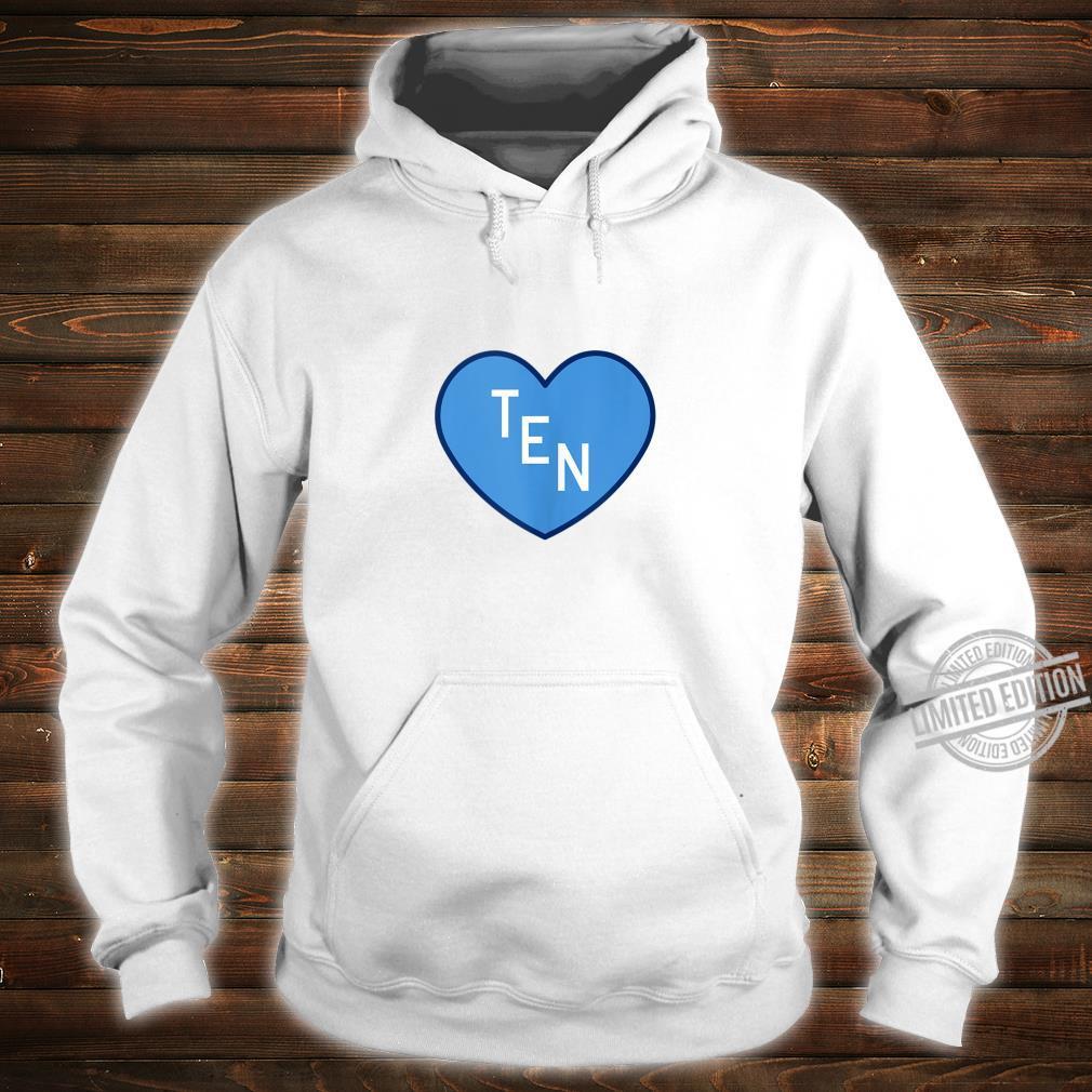TEN Tennessee Football Girly Football Fan Heart TN Shirt hoodie