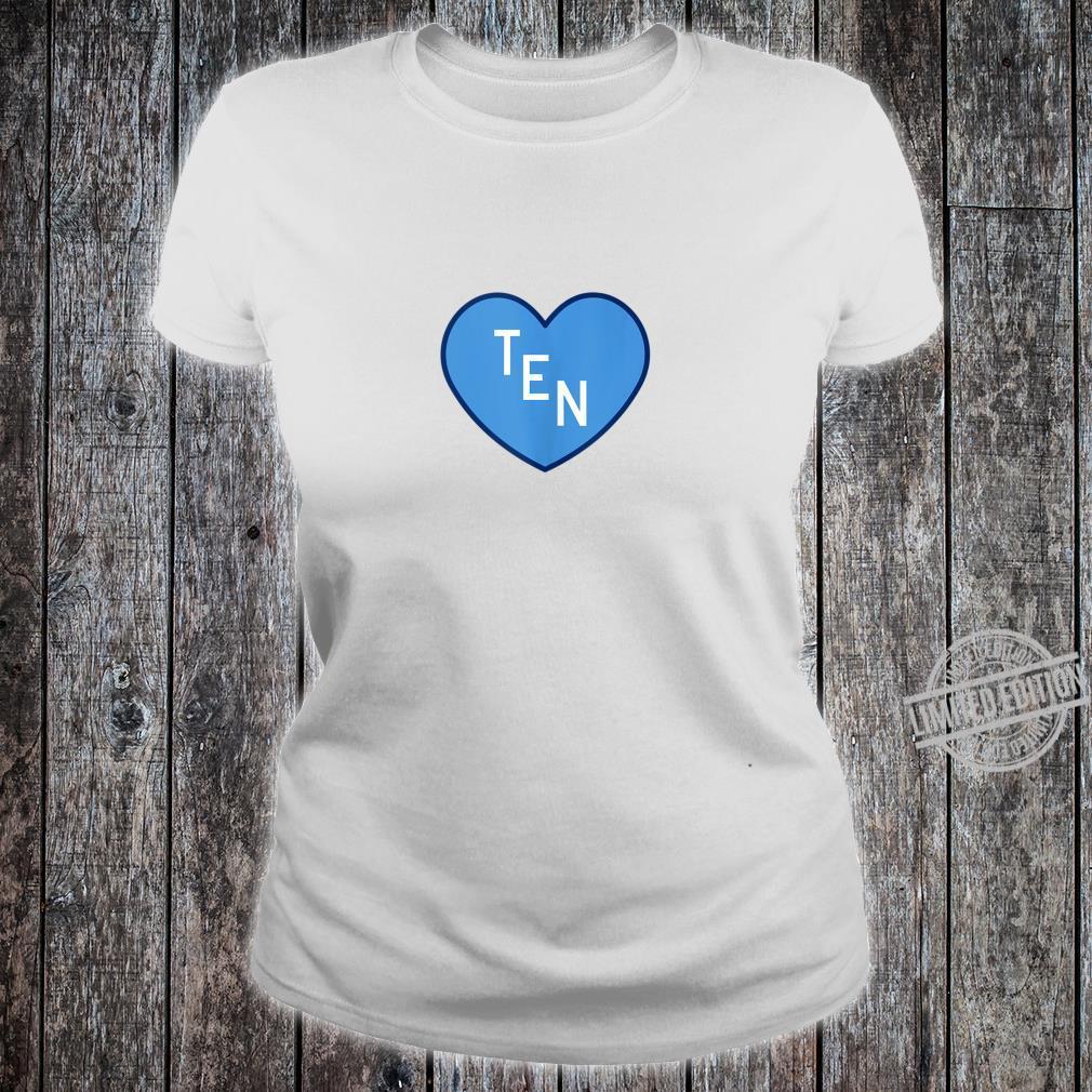 TEN Tennessee Football Girly Football Fan Heart TN Shirt ladies tee