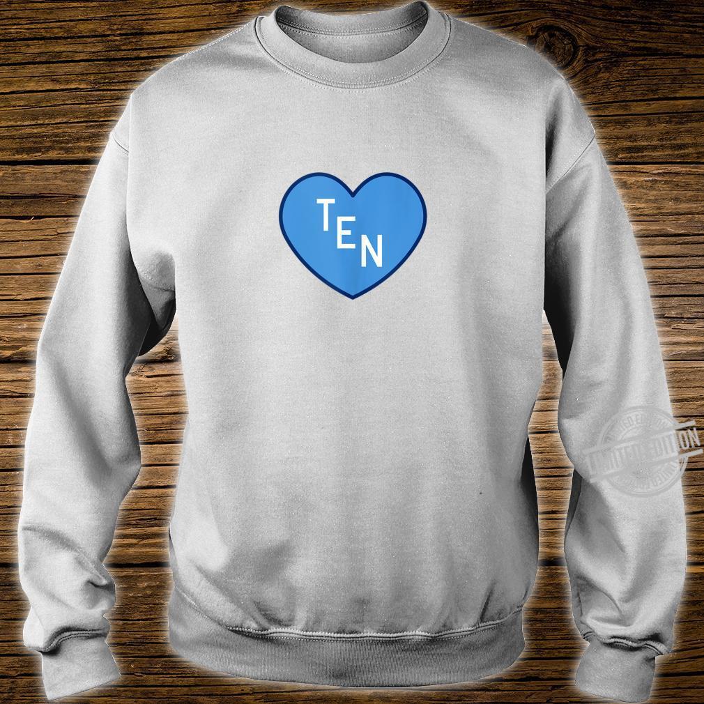 TEN Tennessee Football Girly Football Fan Heart TN Shirt sweater