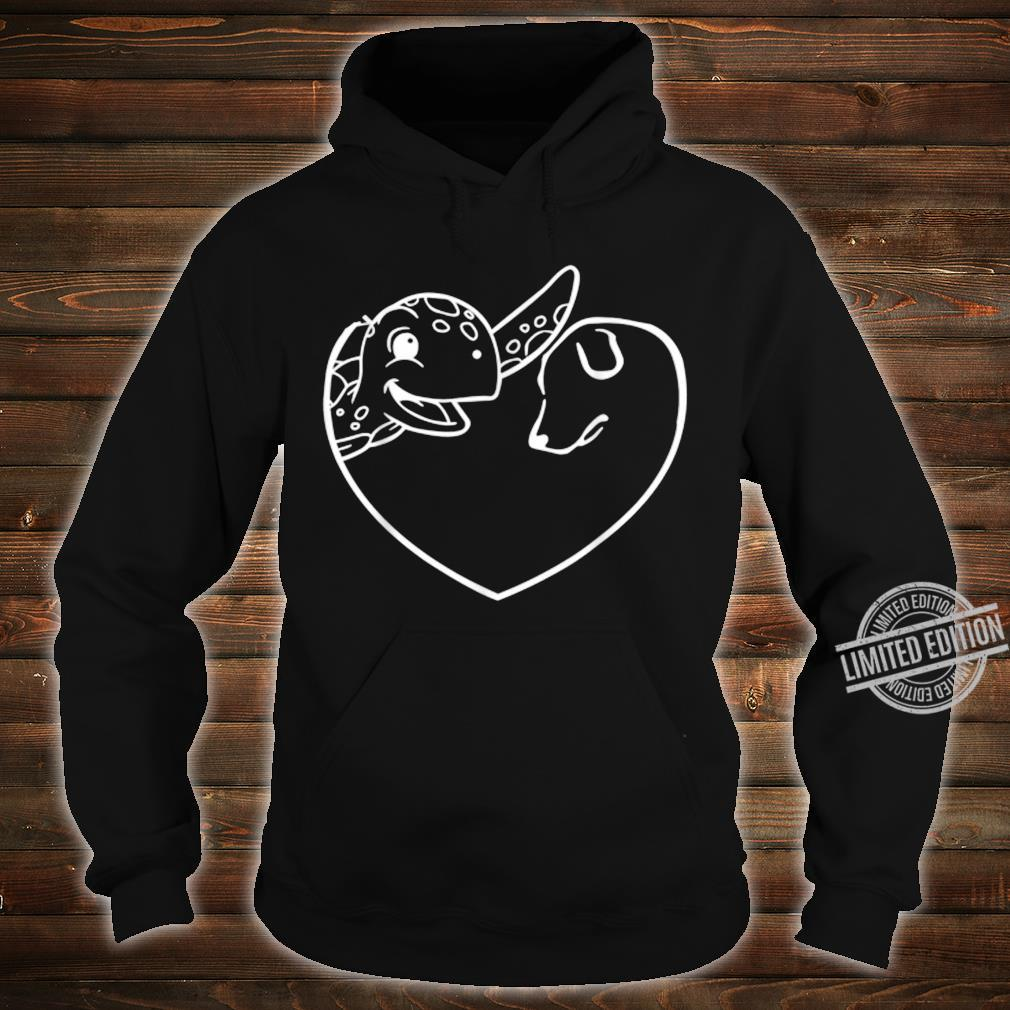 Turtle Dog Heart Symbol Valentine's Day Dog Turtle Shirt hoodie