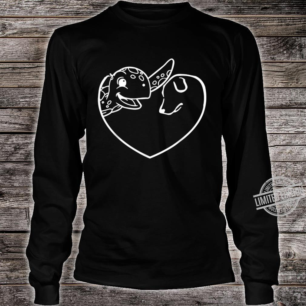Turtle Dog Heart Symbol Valentine's Day Dog Turtle Shirt long sleeved