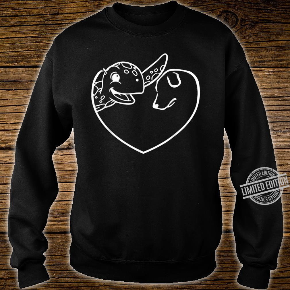 Turtle Dog Heart Symbol Valentine's Day Dog Turtle Shirt sweater