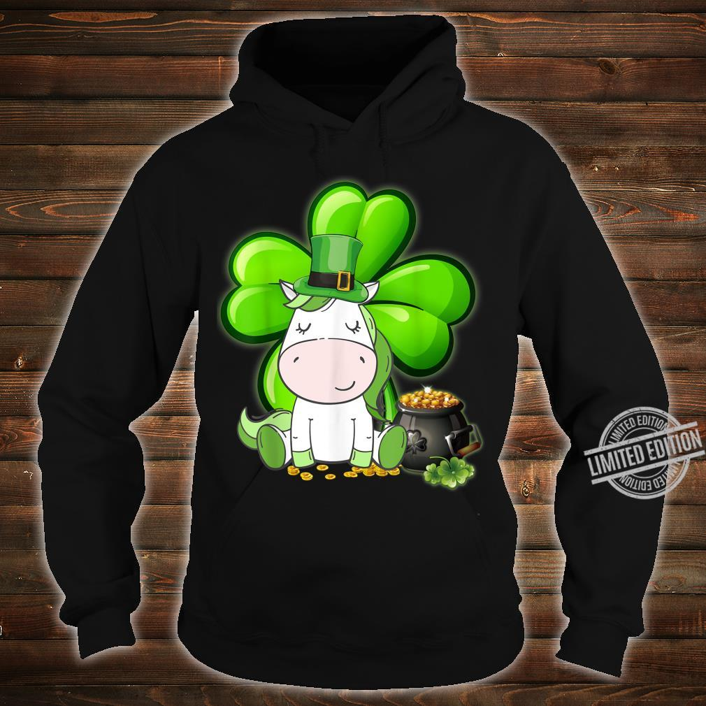 Unicorn Shamrock St Patricks Day Leprechaun Dog Shirt hoodie