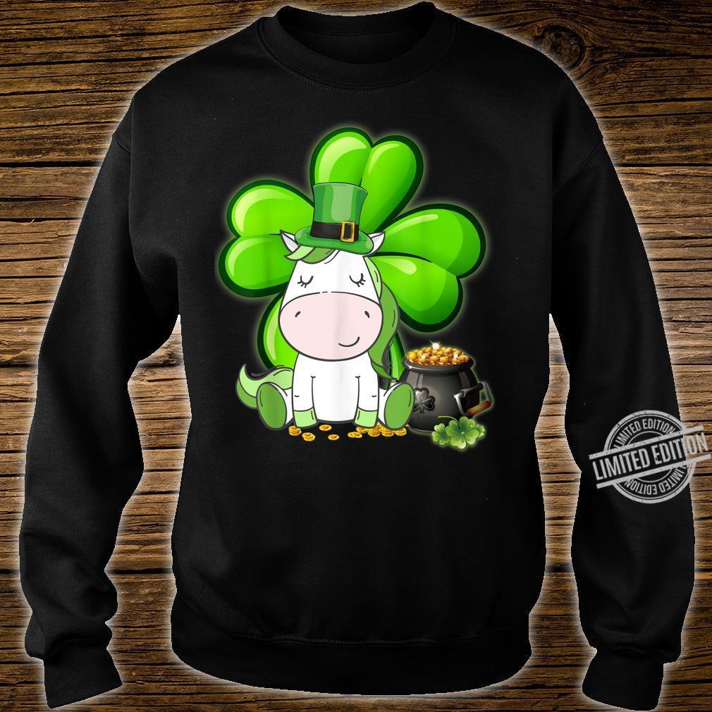 Unicorn Shamrock St Patricks Day Leprechaun Dog Shirt sweater