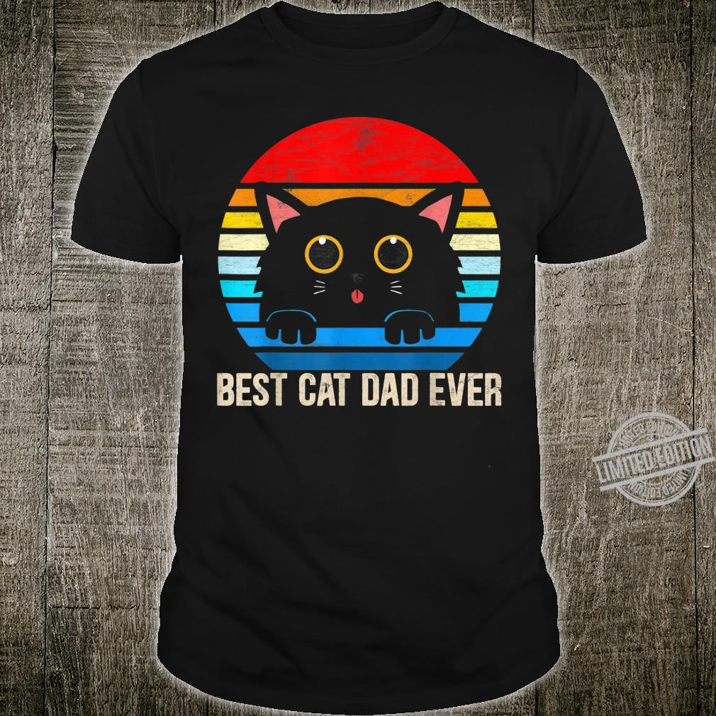 Vintage Best Cat Dad Ever Cat Dad Daddy Father day 2020 Shirt