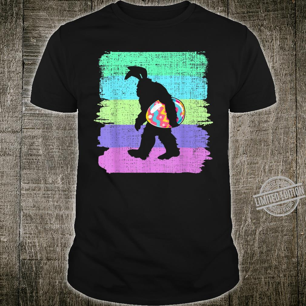 Vintage Bigfoot holding Easter Bunny Eggs Happy Easter Day Shirt