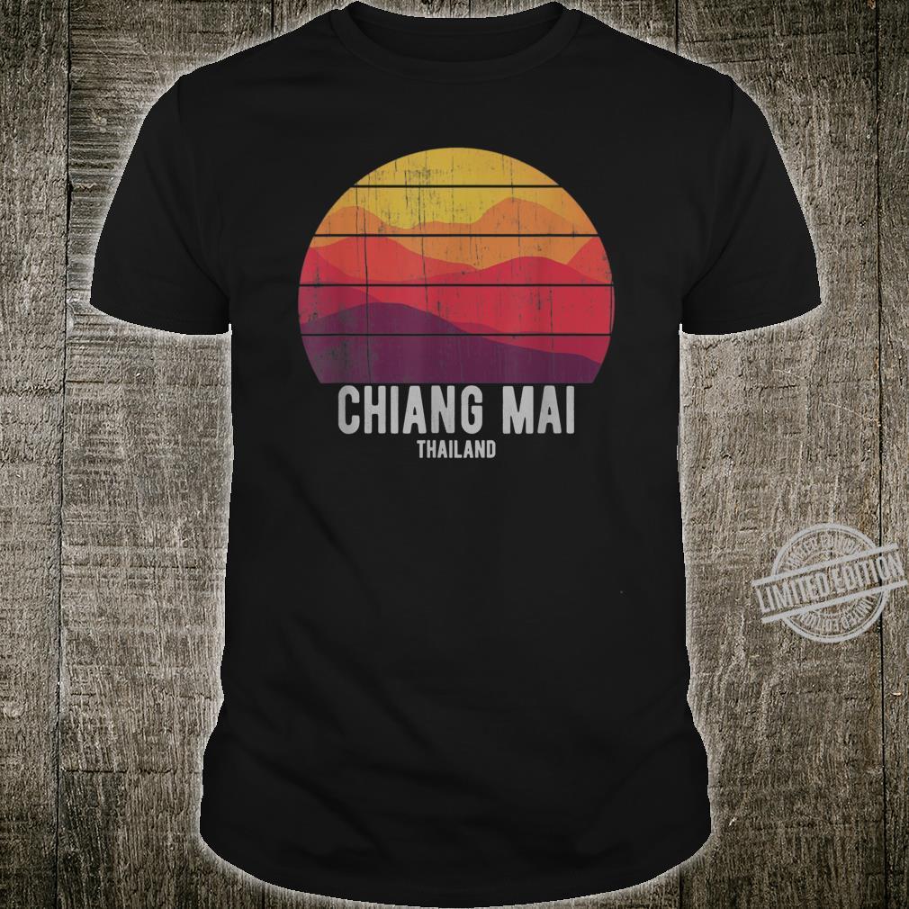 Vintage Chiang Mai Thailand Mountain Sunset Thai Shirt