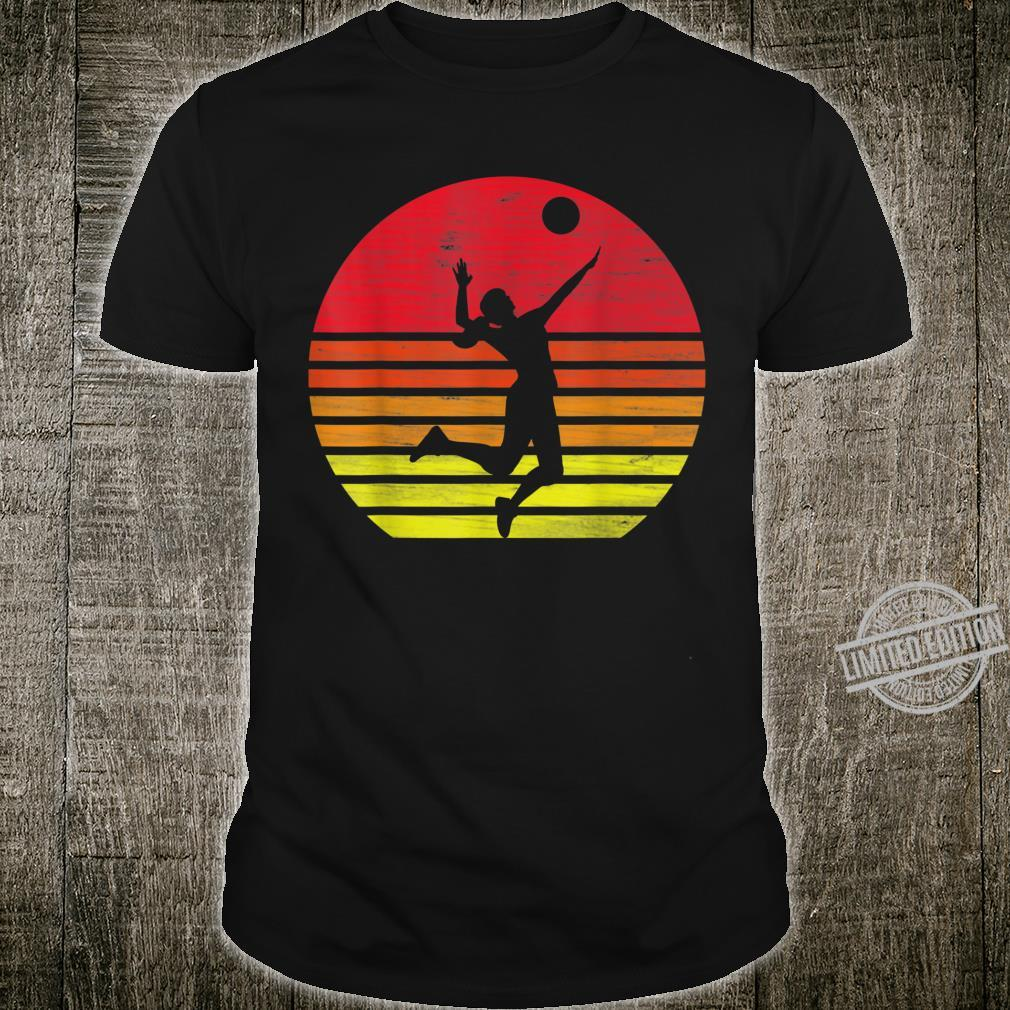 Volleyball Retro Volleyballspieler Shirt