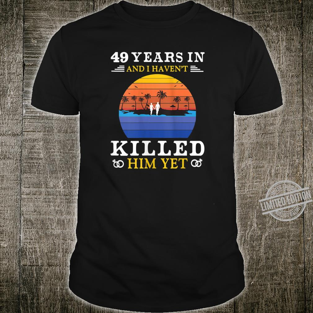 Womens 49 Years Wedding Anniversary Idea for Her Wife Shirt