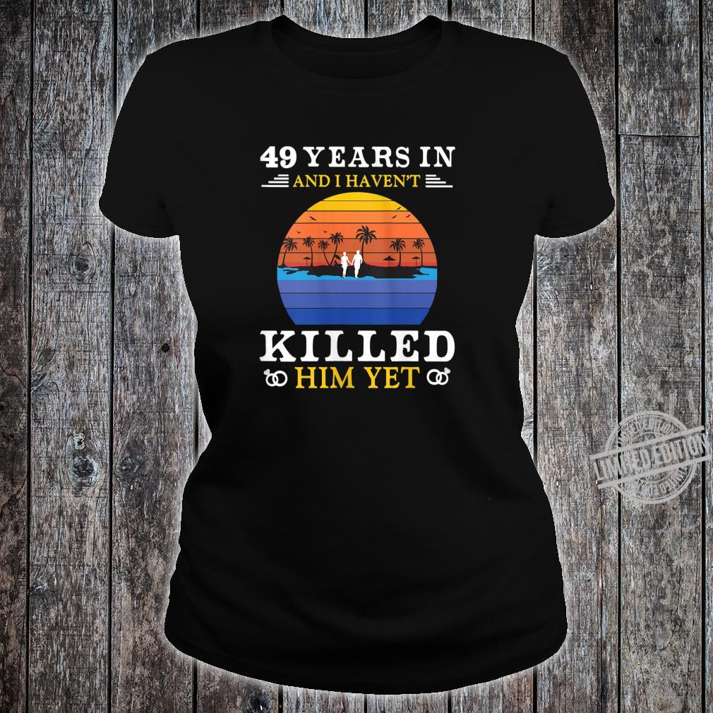 Womens 49 Years Wedding Anniversary Idea for Her Wife Shirt ladies tee