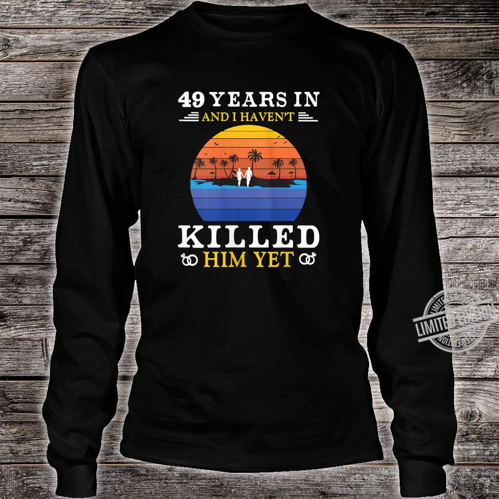 Womens 49 Years Wedding Anniversary Idea for Her Wife Shirt long sleeved
