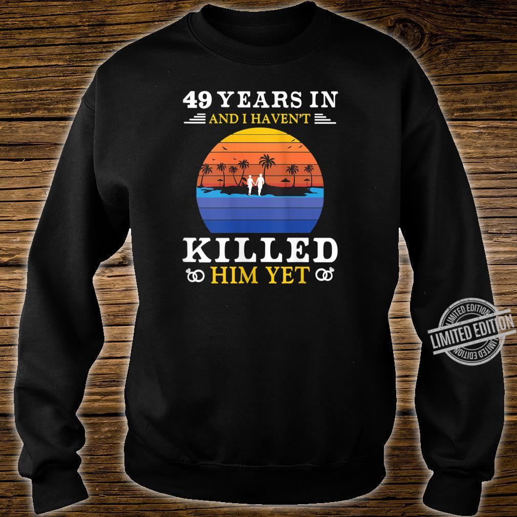 Womens 49 Years Wedding Anniversary Idea for Her Wife Shirt sweater