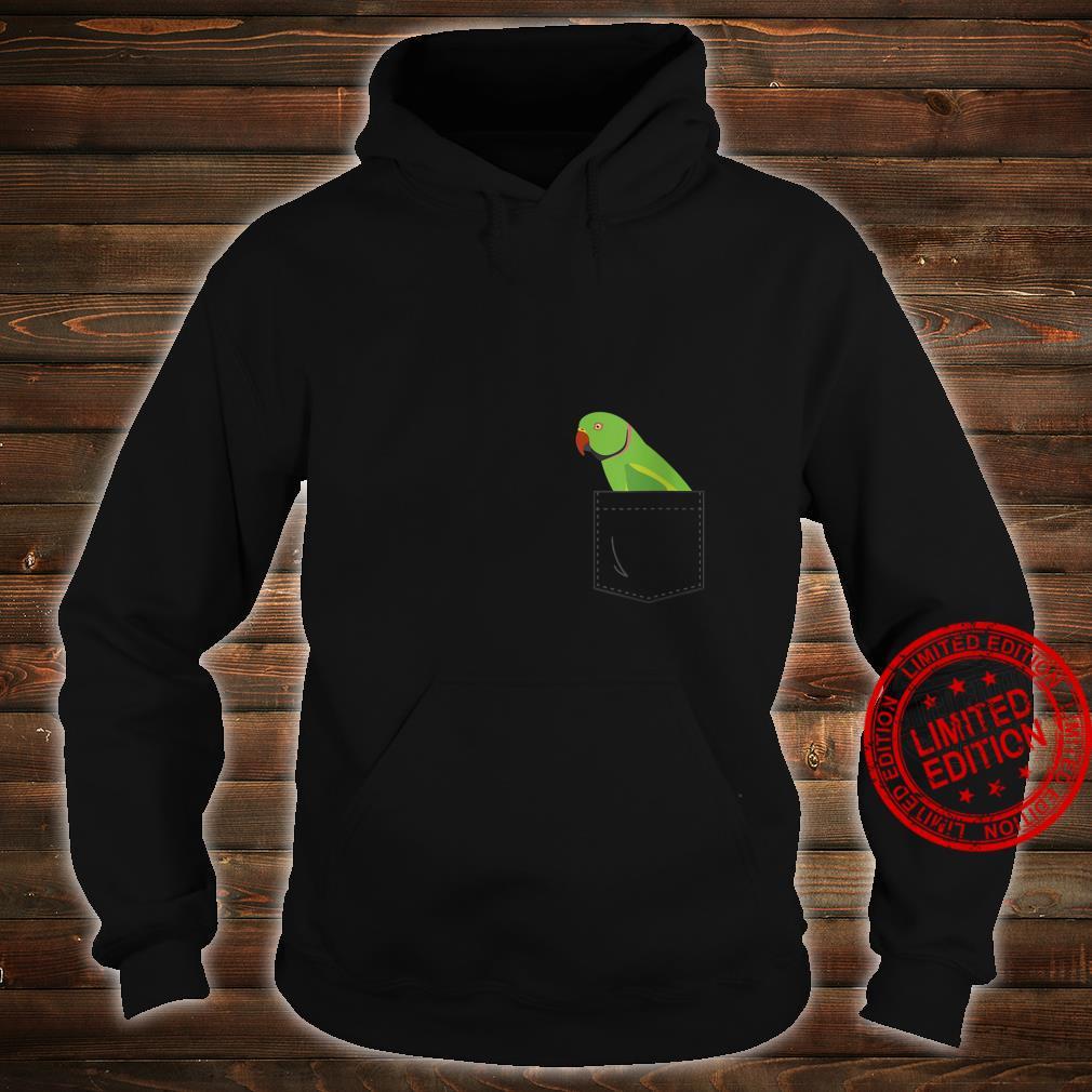 Womens Indian Ringneck Male Parakeet Parrot Fake Pocket Shirt hoodie