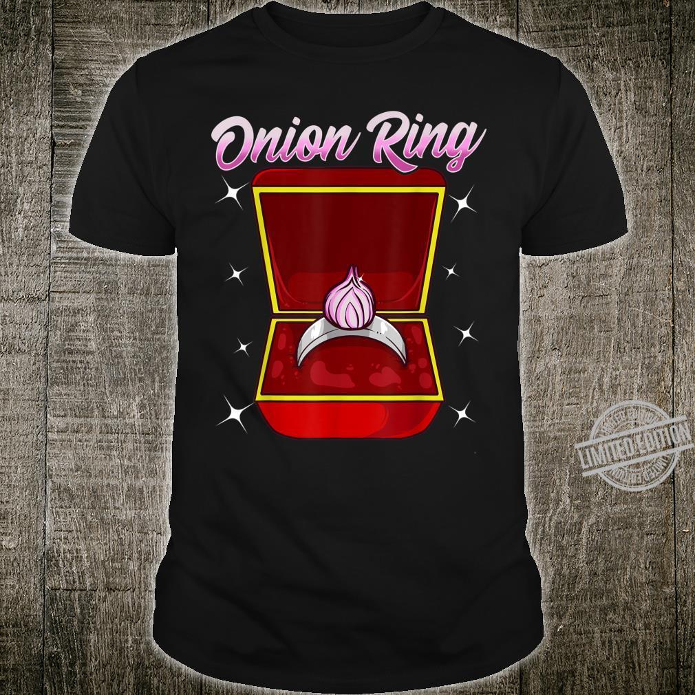 Zwiebelringgesponnene Hochzeit Verlobung vorschlagen Shirt