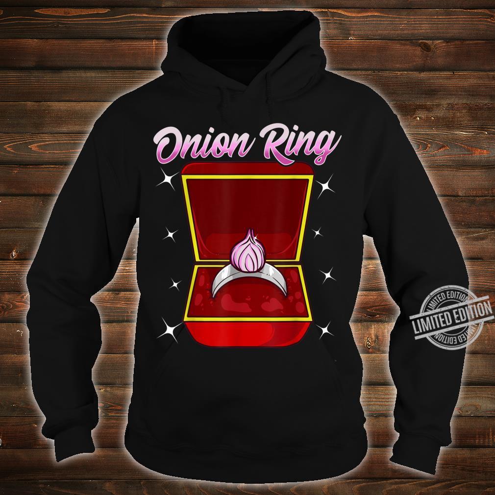 Zwiebelringgesponnene Hochzeit Verlobung vorschlagen Shirt hoodie
